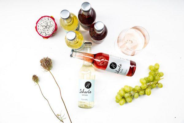 Weinschorle Rosé und Weiß
